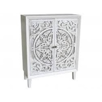 Hamptons Carved Timber 2 Door Cabinet (MH8349-1)