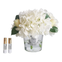 Cote Noire Hydrangea and Rosebud - White (LHRB01)