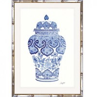 Hamptons Blue and White China Wall Art (BWC-2)