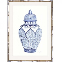 Hamptons Blue and White China Wall Art (BWC-3)