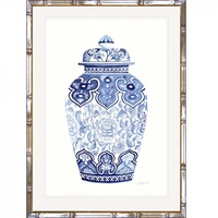 Hamptons Blue and White China Wall Art (BWC-4)