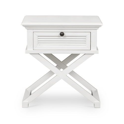 Hamptons West Beach Side Table - White (WB1015)